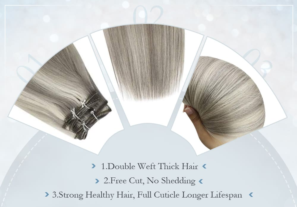 laavoo virgin human hiar bundle silky straight soft hair extensions blend well with your hair the most popular hair color in 2021
