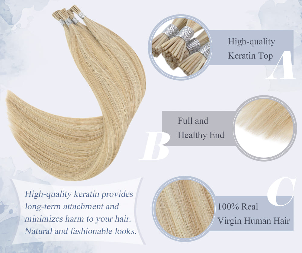 laavoo virgin i tip human hair extensions silky straight virgi quality can be dyed and straighten 10a quality human hair