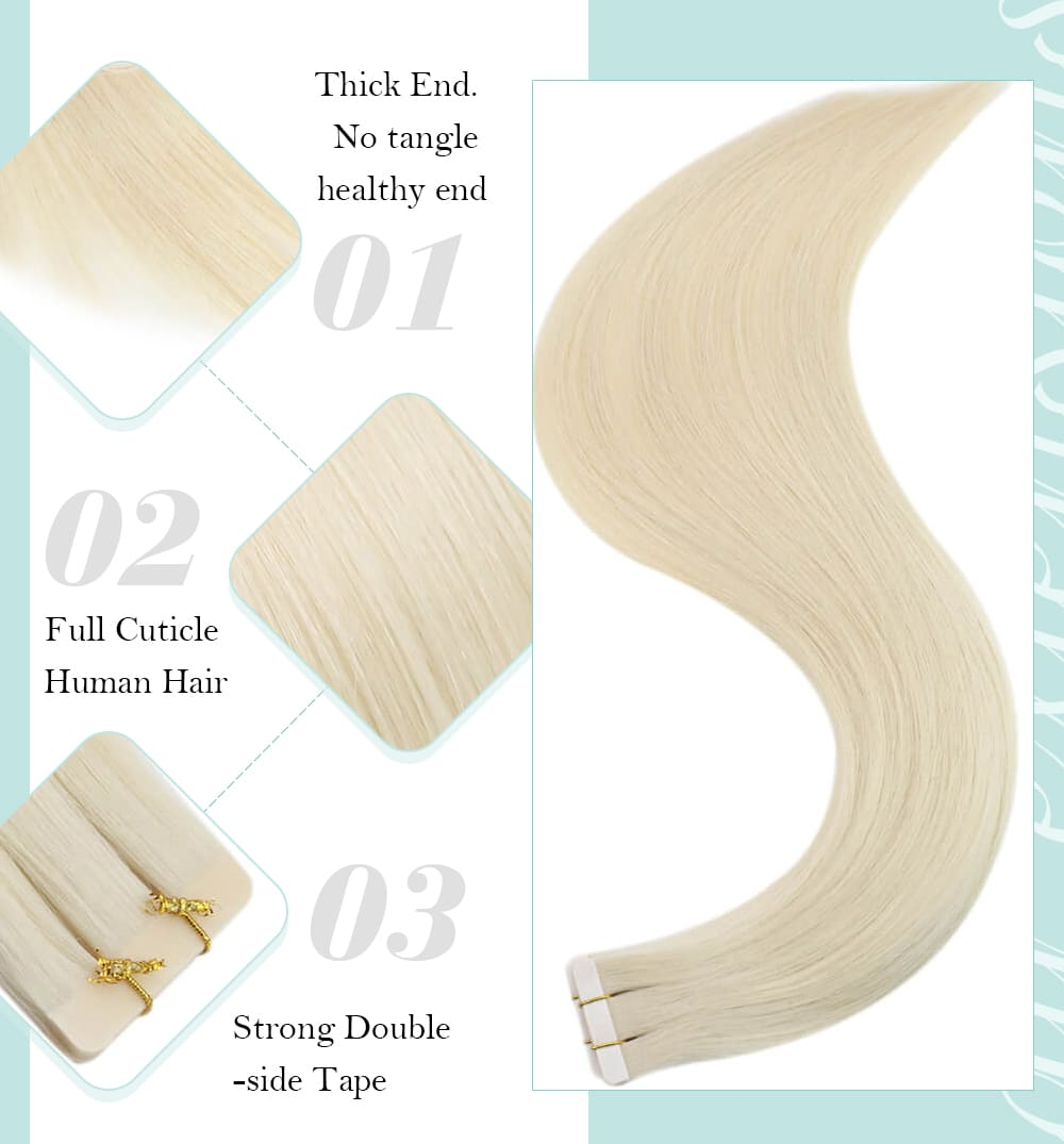 platinum blonde regular virgin human hair extensions big discount price silky straight 10a quality amooth and soft