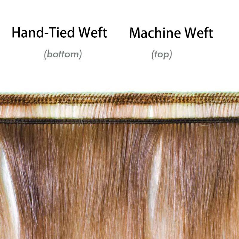 the difference between machine weft and hand tied weft