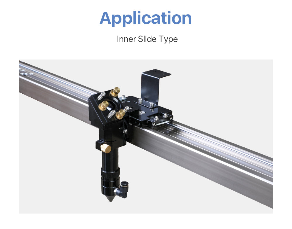 Cloudray CO2 Laser Head Inner Slider Type with Air Assist Nozzle for Inner Rail