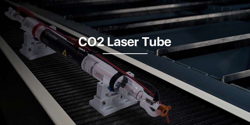 60-100W CO2 Laser Tube Upgraded Metal Head CR Series