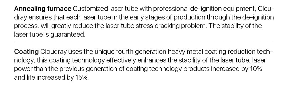 90-150W CO2 Laser Tube Upgraded Metal Head CR Series