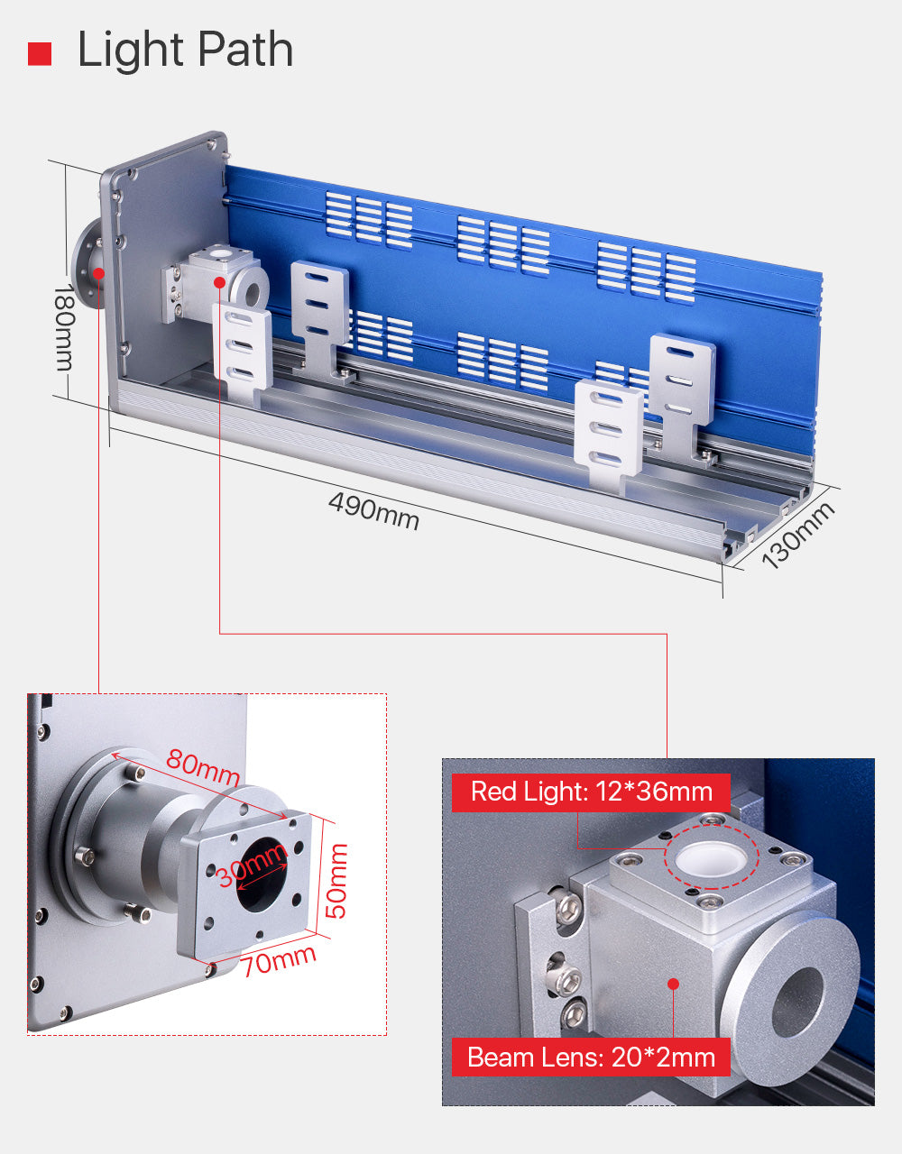 DaWei Light Path, can suitable for many kinds RF-Laser Source.