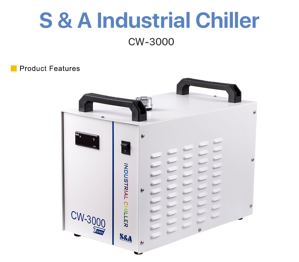 S&A Industrial Chiller CW3000 for Cooling 60W 80W Laser Tube