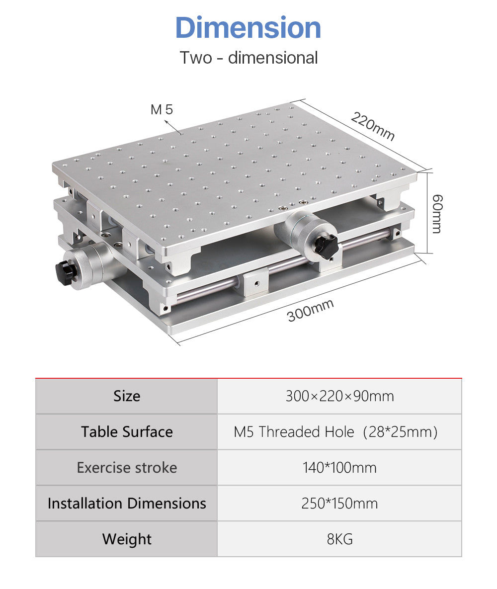 DT Two-dimensional Workstation 220x300 X150 Y90