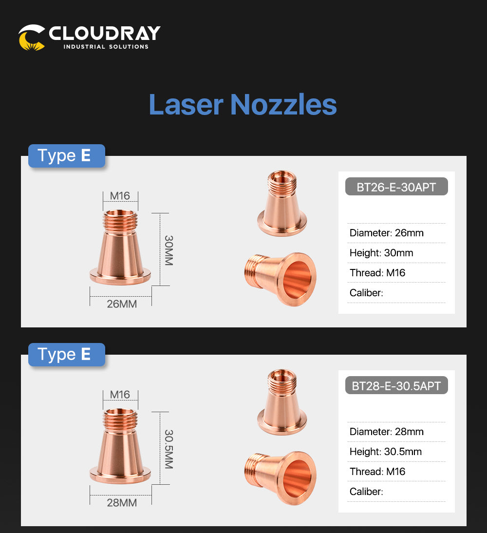 Cloudray OEM Bystronic Nozzle E Type