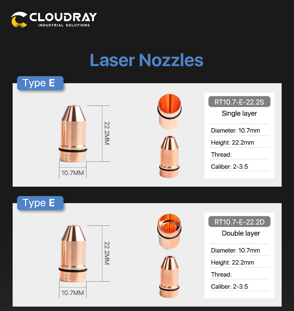 Laser Nozzle D Type for Raytools Cutting Nozzles