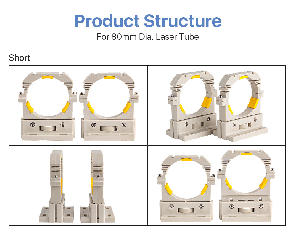 RECI Laser Tube Support Holder For Dia.60mm or 80mm