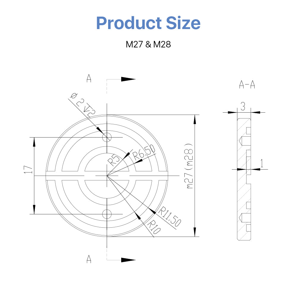Mirror Fixing Nut for C&E Series 1st 2nd 3rd Laser Parts