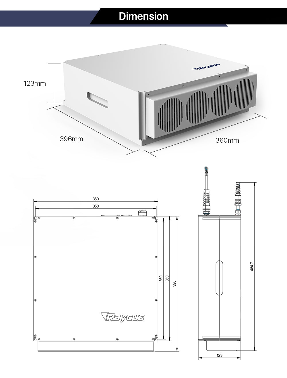 Raycus 70W-100W Q-switched Pulse Fiber Laser Source for 1064nm Laser Marking Machine(Oceana)