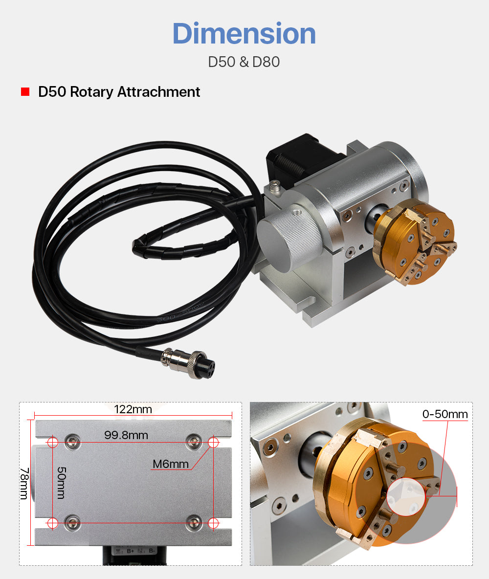 Rotary Attachment for Intelligent Marking Machine