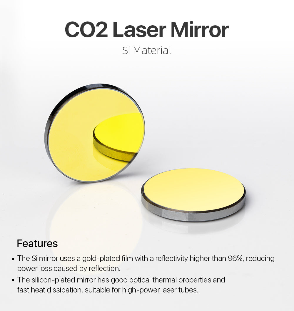 Si Mirror Dia. 19.05/20/25/30/38.1mm for CO2 Laser
