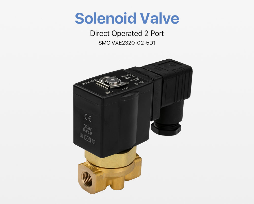 Cloudray Direct Operated 2 Port Solenoid Valve SMC VXE2330-02-5D1 Air Steam 3.0Mpa