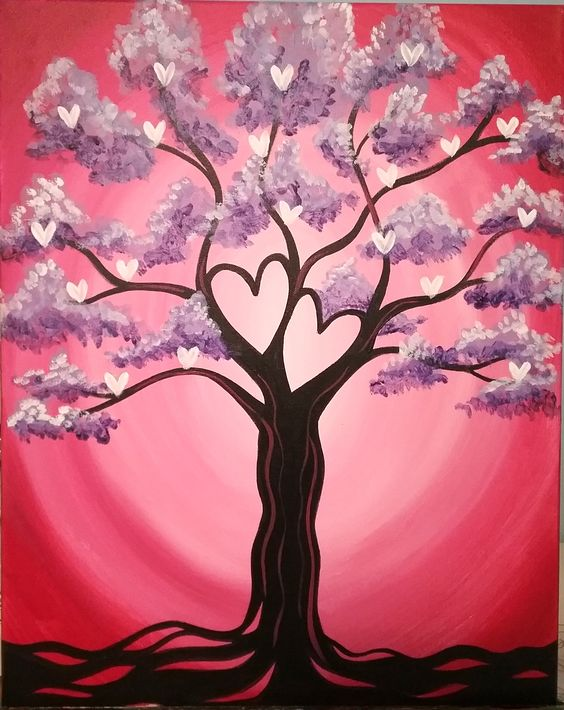 30 Easy Acrylic Painting Ideas for Beginners, Easy Landscape Painting Ideas