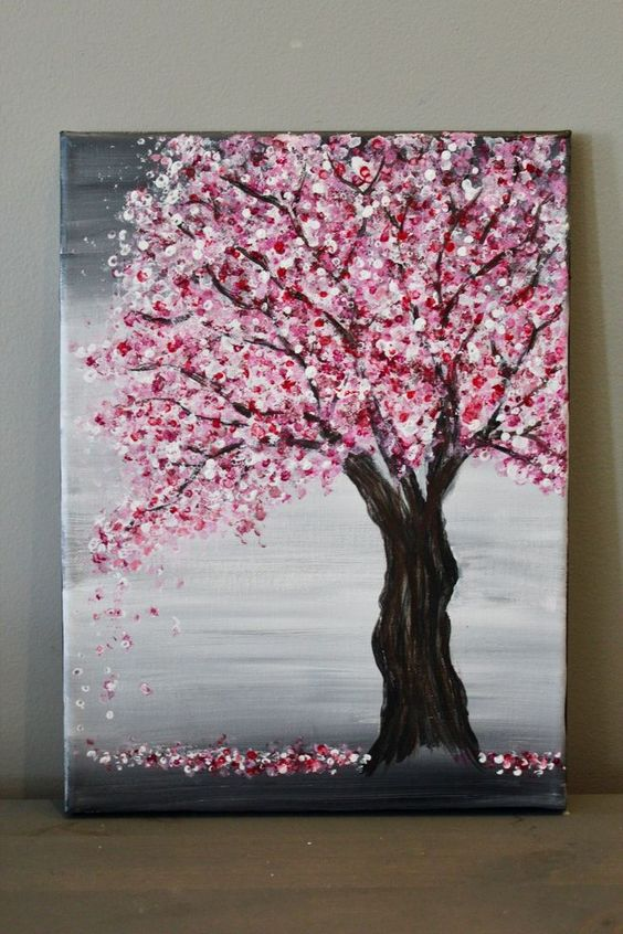 Easy Landscape Painting Ideas for Beginners, Simple Canvas Painting Ideas for Kids, Easy Tree Paintings, Easy Acrylic Painting Ideas for Beginners, Easy Abstract Paintings
