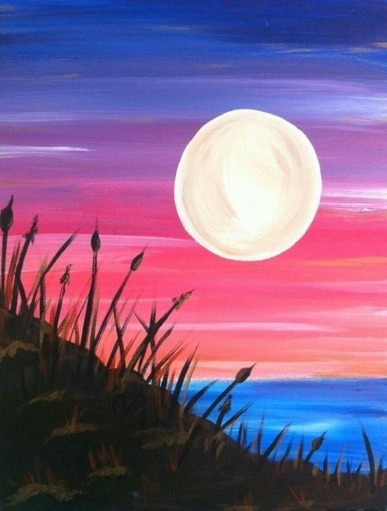 30 Easy Acrylic Painting Ideas for Beginners, Easy Landscape Painting Ideas for Beginners, Simple Canvas Painting Ideas for Kids, Easy Moon Paintings, Easy Abstract Paintings