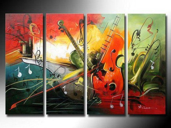 Music Painting, Modern Wall Art Painting, Contemporary Wall Art, Acrylic Painting Abstract