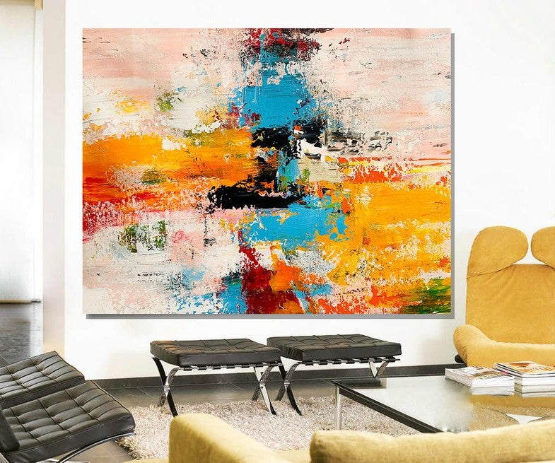 Acrylic Abstract Art, Extra Large Paintings, Modern Abstract Acrylic Painting, Living Room Wall Painting