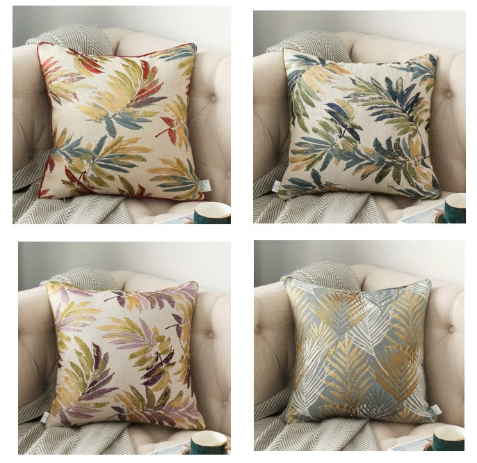 Simple Modern Throw Pillows, Decorative Sofa Pillows for Living Room, Leaves Pattern Throw Pillows, Decorative Pillows for Couch