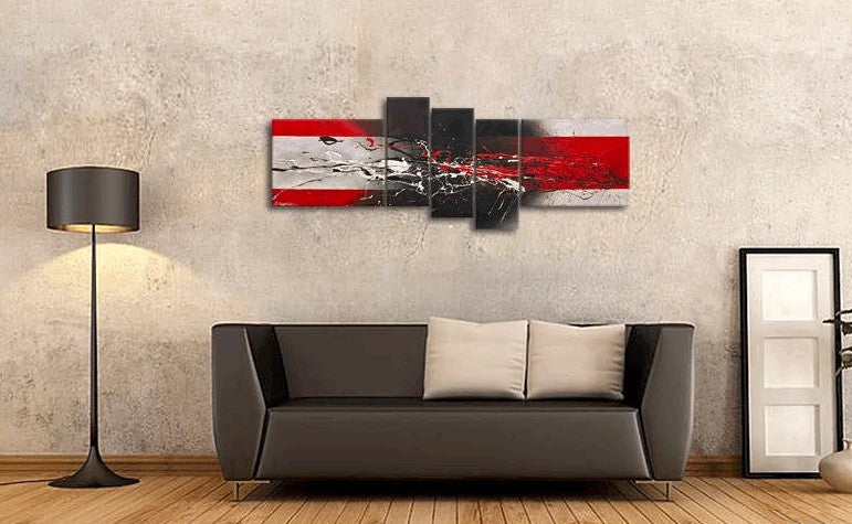Large Paintings for Living Room, Abstract Acrylic Painting, 5 Piece Wall Painting, Modern Wall Art Paintings