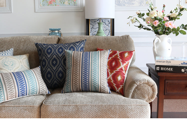 Geometric Pattern Throw Pillows, Decorative Throw Pillow, Decorative Pillows for Couch, Decorative Sofa Pillows for Living Room