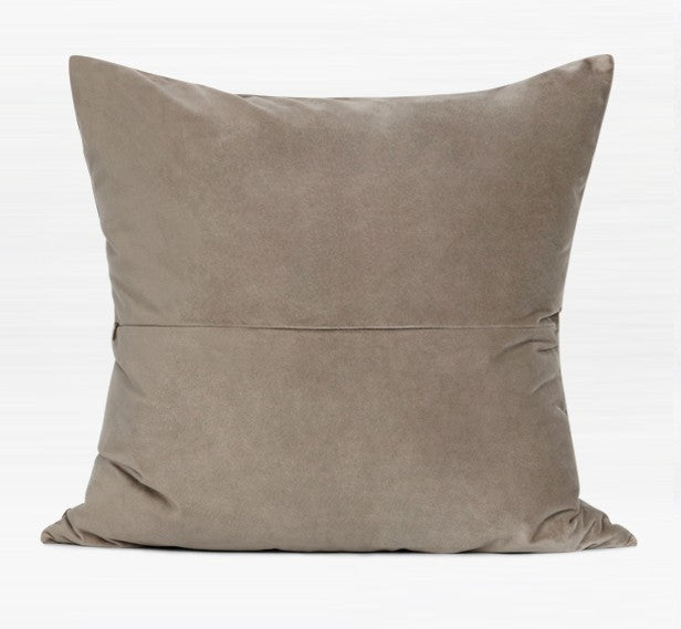 Modern Sofa Pillows, Coffee Beige Square Throw Pillows, Large Simple Modern Pillows, Decorative Pillows for Couch, Contemporary Throw Pillows