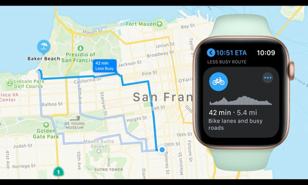 watchos 7 cycling directions