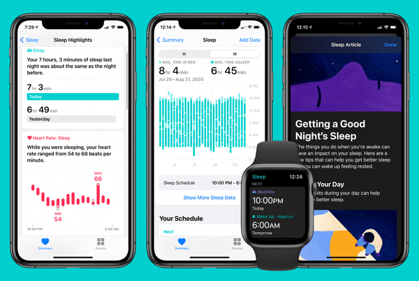 watchos 7 sleep tracking apple watch