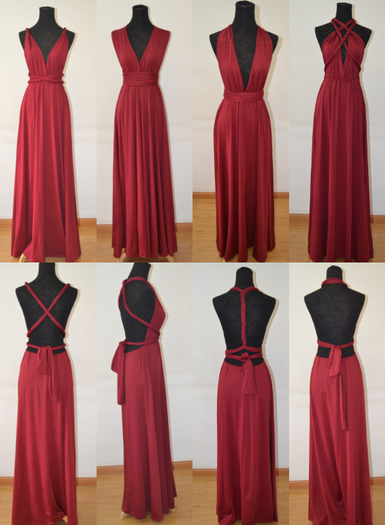 Wine Red Multiway Bridesmaid Dress