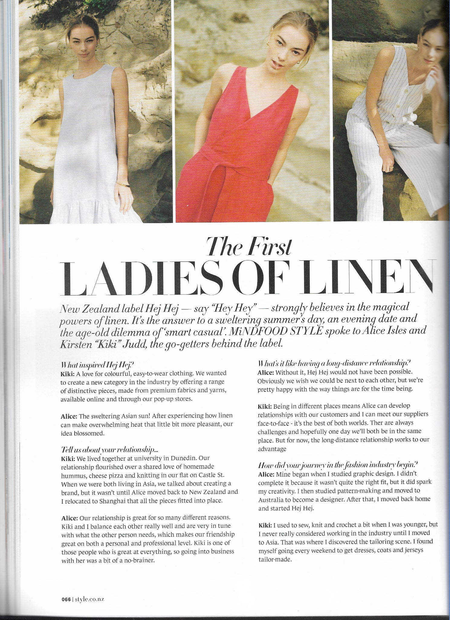 The First Ladies of Linen - Mindfood Style