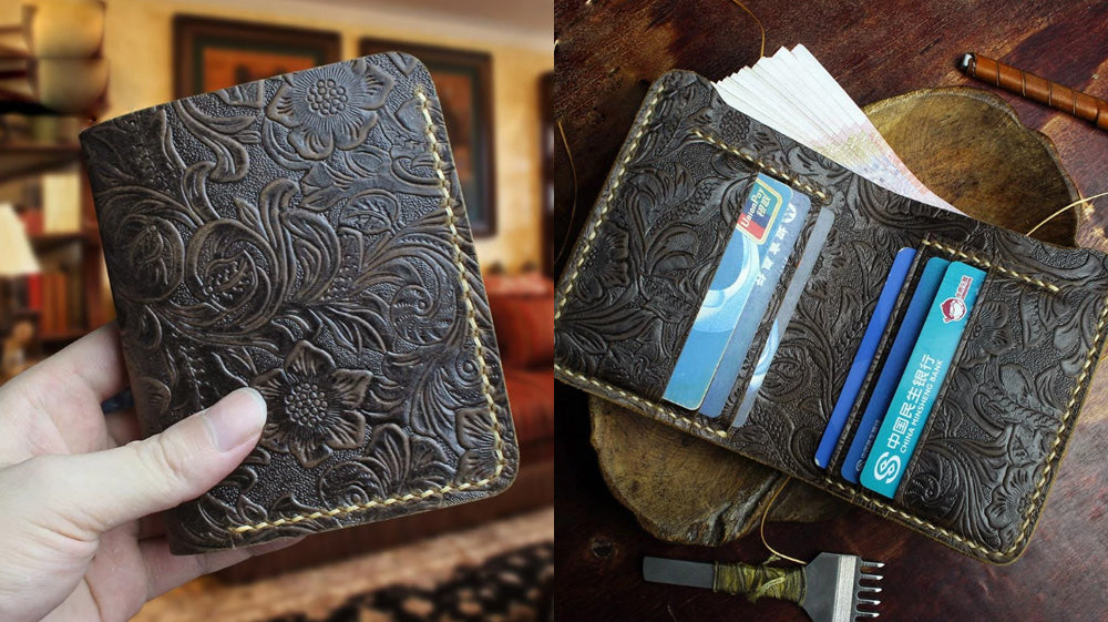 Mens_Floral_Vertical_Billfolds_Mens_Coffee_Leather_Bifold_Billfold