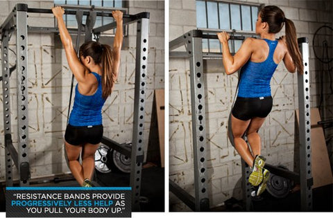 pull-ups assisted with resistance band
