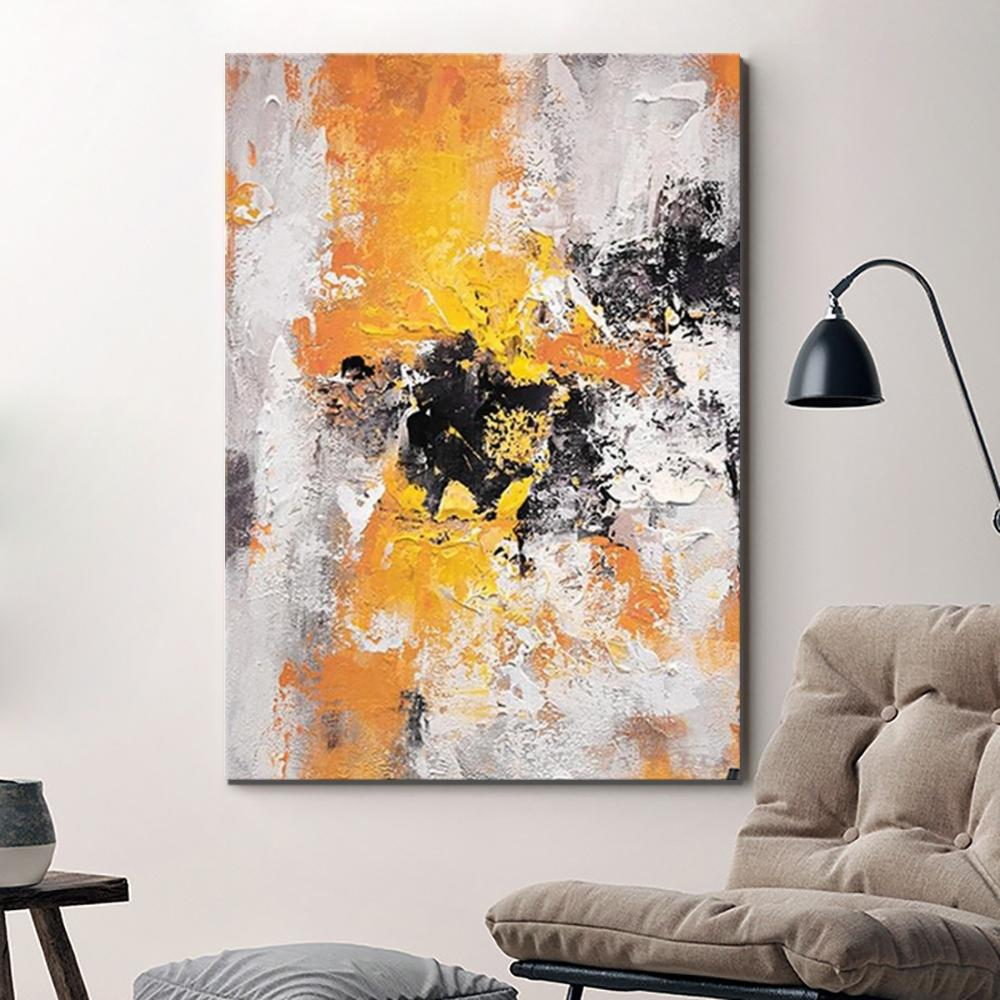 Modern Contemporary Artwork, Abstract Acrylic Paintings for Living Room, Buy Paintings Online, Heavy Texture Canvas Art