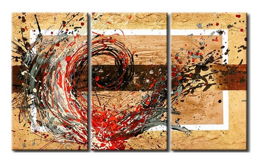 Acrylic Abstract Paintings, 3 Piece Wall Painting, Modern Acrylic Paintings, Wall Art Paintings