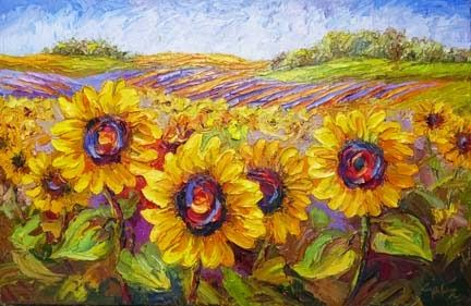 40 Easy Landscape Painting Ideas for Beginners, Easy Acrylic Painting Ideas, Simple Flower Painting Ideas, Sunflower Painting, Easy Canvas Painting Ideas