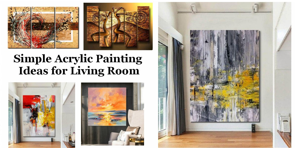 Simple Acrylic Wall Art Painting Ideas for Living Room, Original Modern Contemporary Paintings, Easy Abstract Paintings for Bedroom, Buy Art Online