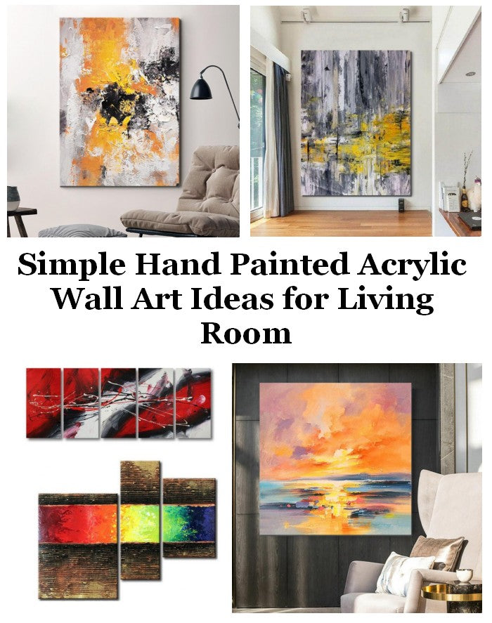 Simple Acrylic Wall Art Painting Ideas for Living Room, Original Modern Contemporary Paintings, Hand Painted Canvas Art, Easy Abstract Paintings for Bedroom