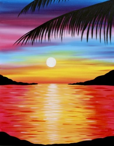 40 Easy Landscape Painting Ideas for Beginners, Easy Acrylic Painting Ideas, Easy Tree Painting Ideas, Simple Abstract Painting Ideas, Sunrise Painting