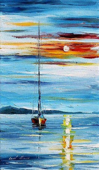 Easy Seascape Painting Ideas for Beginners, Easy Acrylic Painting Ideas, Easy Landscape Painting Ideas, Simple Abstract Painting Ideas, Sunrise Painting, Easy Canvas Painting Ideas