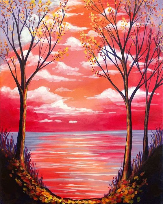 40 Easy Landscape Painting Ideas for Beginners, Easy Tree Painting Ideas, Easy Acrylic Painting Ideas, Simple Abstract Painting Ideas, Easy Canvas Painting Ideas