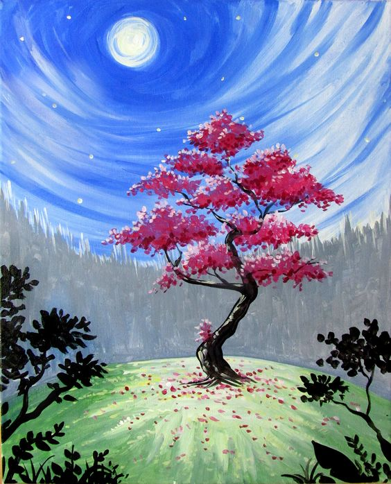 Easy Tree Painting Ideas for Beginners, Easy Acrylic Landscape Painting Ideas, Easy Tree Painting Ideas, Simple Abstract Painting Ideas, Easy Canvas Painting Ideas