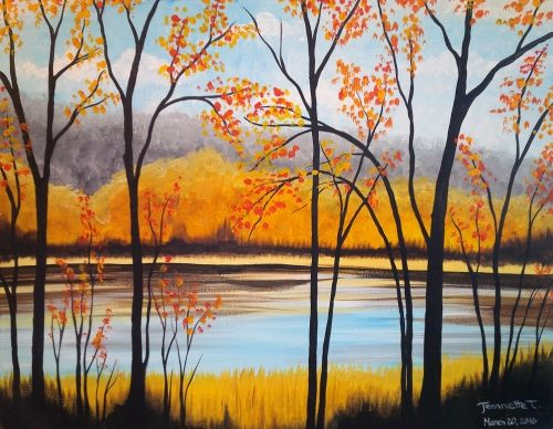 Easy Landscape Paintings Ideas for Beginners, Simple Canvas Paintings, Forest Paintings, Easy Acrylic Painting Ideas for Beginners