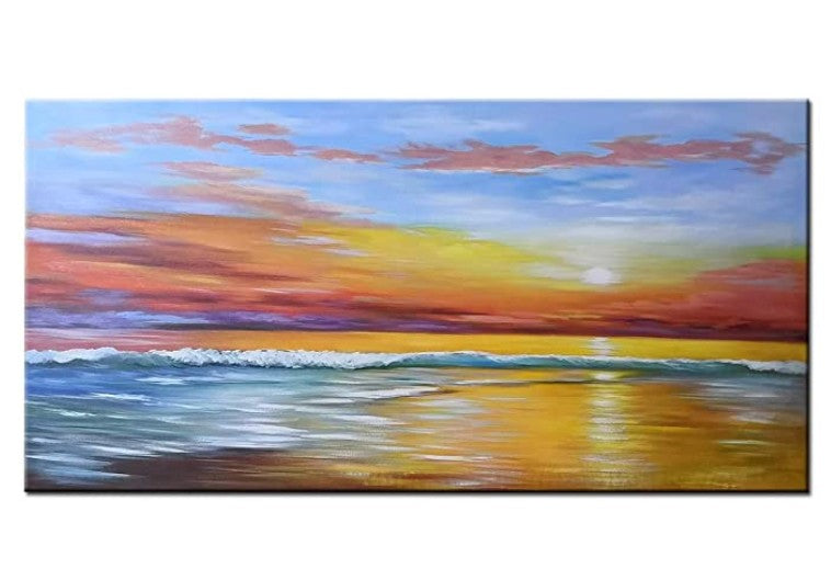 Easy Seascape Painting Ideas for Beginners, Simple Abstract Painting Ideas, Easy Acrylic Paintings, Wall Art Paintings
