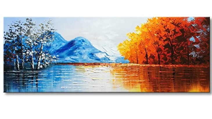 40 Easy Landscape Painting Ideas for Beginners, Easy Acrylic Painting Ideas, Easy Mountain Painting Ideas, Simple Abstract Painting Ideas, Mountain Painting, Easy Canvas Painting Ideas