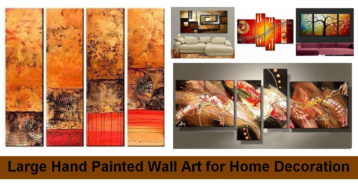 Living Room Canvas Paintings, Abstract Modern Painting, Bedroom Wall Art Paintings, Hand Painted Acrylic Painting