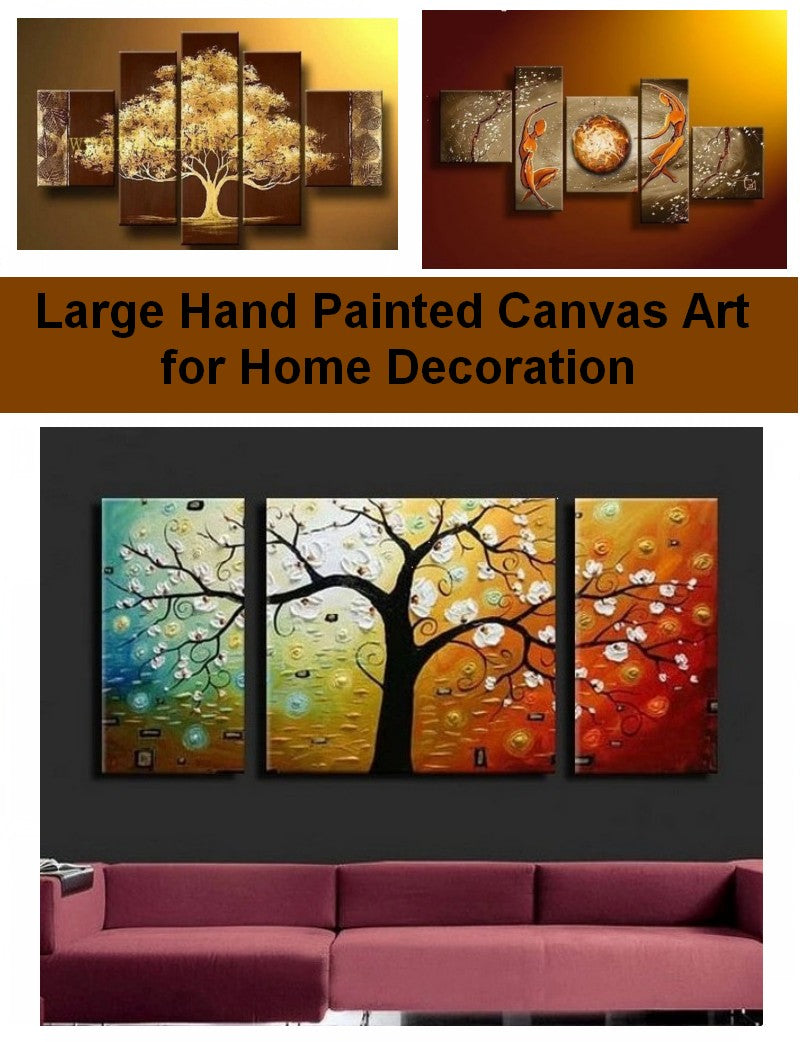 Large acrylic paintings for living room, bedroom canvas paintings, hand painted canvas paintings, buy painting online