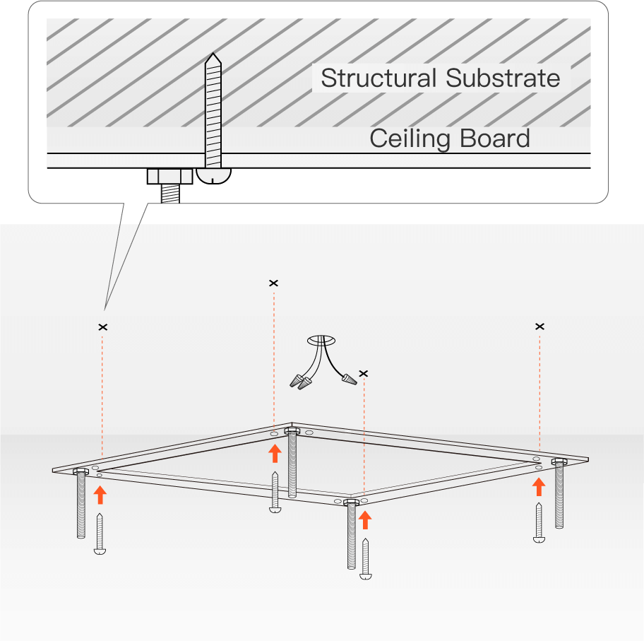 How To Install Chandelier- install the mounting bracket | Sofary