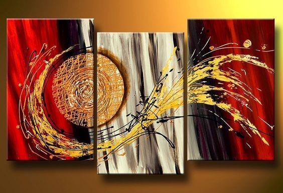3 Piece Wall Art Paintings, Abstract Painting on Canvas, Acrylic Canvas Painting, Modern Paintings for Living Room