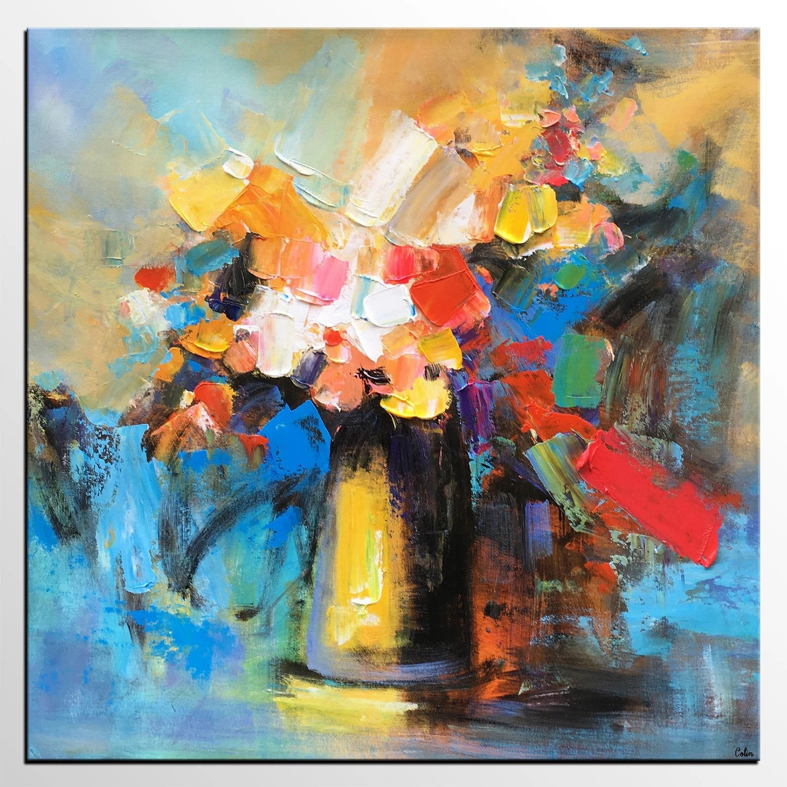 Flower Acrylic Painting, Abstract Acrylic Painting, Flower Painting for Sale, Custom Acrylic Painting on Canvas, Abstract Art on Canvas
